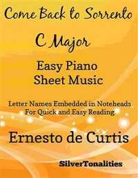 Cover Come Back to Sorrento Easy Piano Sheet Music in C Major