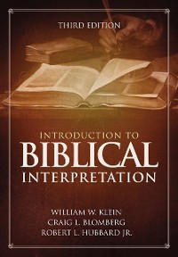 Cover Introduction to Biblical Interpretation