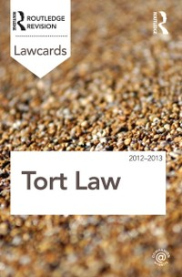 Cover Tort Lawcards 2012-2013