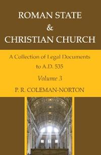 Cover Roman State & Christian Church Volume 3