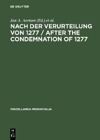 Cover Nach der Verurteilung von 1277 / After the Condemnation of 1277
