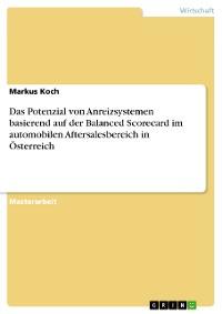 Cover Das Potenzial von Anreizsystemen basierend auf der Balanced Scorecard im automobilen Aftersalesbereich in Österreich