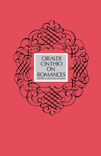 Cover Giraldi Cinthio on Romances