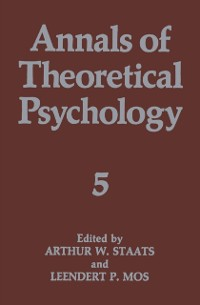 Cover Annals of Theoretical Psychology