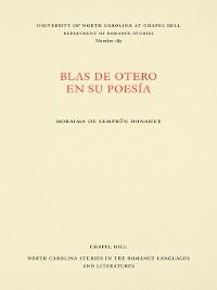 Cover Blas de Otero en su poesía