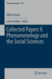 Cover Collected Papers V. Phenomenology and the Social Sciences