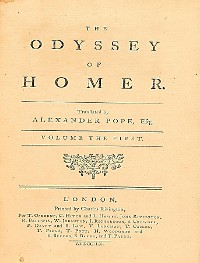 Cover The Odyssey of Homer