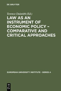 Cover Law as an Instrument of Economic Policy – Comparative and Critical Approaches