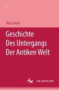 Cover Geschichte des Untergangs der antiken Welt