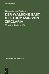 Cover Der wälsche Gast des Thomasin von Zirclaria