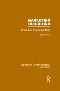 Cover Marketing Budgeting (RLE Marketing)