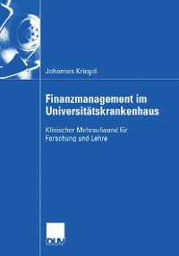 Cover Finanzmanagement im Universitätskrankenhaus