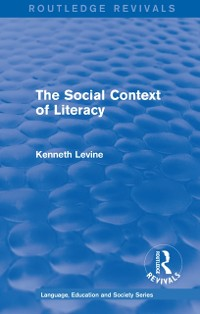 Cover Routledge Revivals: The Social Context of Literacy (1986)