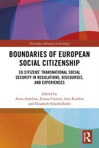 Cover Boundaries of European Social Citizenship