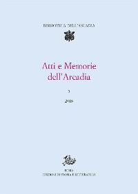 Cover Atti e Memorie dell'Arcadia