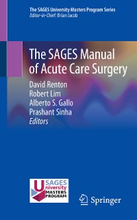 Cover The SAGES Manual of Acute Care Surgery