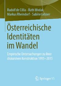 Cover Österreichische Identitäten im Wandel