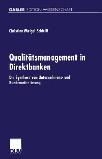 Cover Qualitatsmanagement in Direktbanken