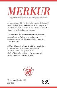 Cover MERKUR Gegründet 1947 als Deutsche Zeitschrift für europäisches Denken - 2021-10