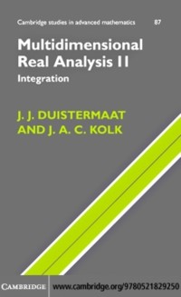 Cover Multidimensional Real Analysis II