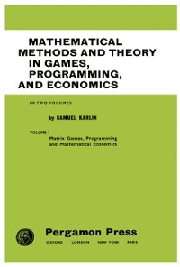 Cover Mathematical Methods and Theory in Games, Programming, and Economics