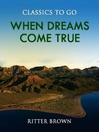 Cover When Dreams Come True