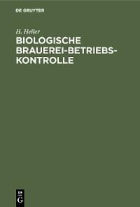 Cover Biologische Brauerei-Betriebs-Kontrolle