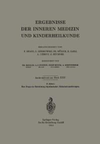 Cover Zur Frage der Entstehung diphtherischer Zirkulationsstorungen
