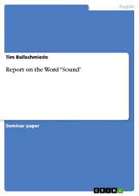 """Cover Report on the Word """"Sound"""""""