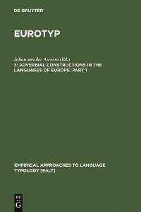 Cover Adverbial Constructions in the Languages of Europe