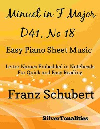 Cover Minuet in F Major D41 N. 18 Easy Piano Sheet Music