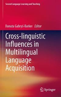 Cover Cross-linguistic Influences in Multilingual Language Acquisition