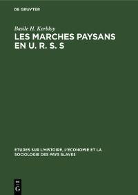 Cover Les marches paysans en U. R. S. S