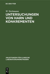 Cover Untersuchungen von Harn und Konkrementen
