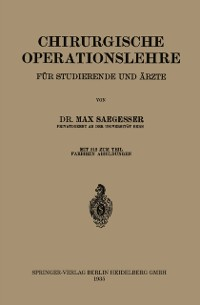 Cover Chirurgische Operationslehre