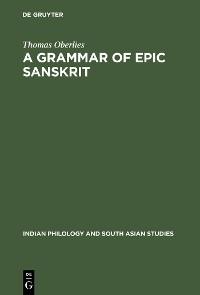Cover A Grammar of Epic Sanskrit