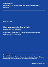 Cover Karrierewege im Berufsfeld Investor Relations
