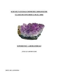 Cover Scienze naturali chimiche e biologiche. Classe di concorso A-50 (ex A060) - Esperienze laboratoriali