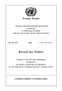 Cover Treaty Series 2964/Recueil des Traités 2964
