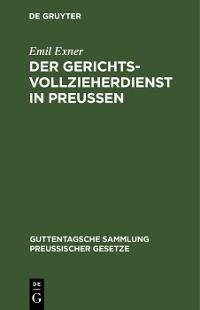 Cover Der Gerichtsvollzieherdienst in Preußen