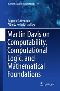 Cover Martin Davis on Computability, Computational Logic, and Mathematical Foundations