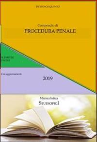Cover Compendio di PROCEDURA PENALE