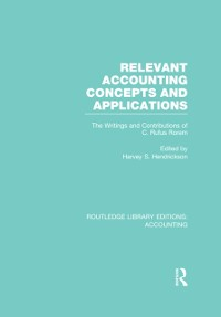 Cover Relevant Accounting Concepts and Applications (RLE Accounting)