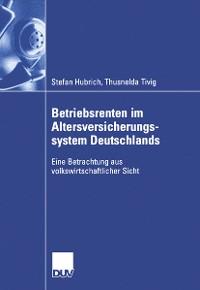 Cover Betriebsrenten im Altersversicherungssystem Deutschlands