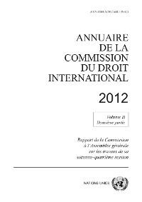 Cover Annuaire de la Commission du Droit International 2012, Vol.II, Partie 2