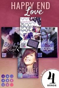 Cover Happy End Love. Vier Young-Adult-Liebesromane mit Herzklopfgarantie (Die Aktions-E-Box von Impress!)