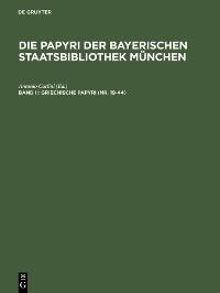 Cover Griechische Papyri (Nr. 19-44)