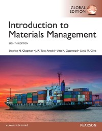 Cover Introduction to Materials Management, Global Edition