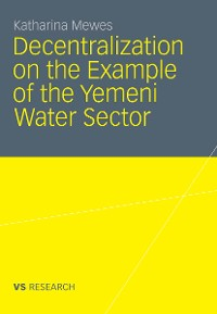 Cover Decentralization on the Example of the Yemeni Water Sector
