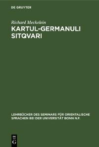 Cover Kartul-germanuli sitqvari